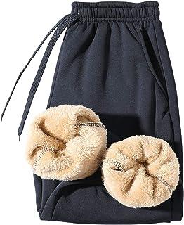 fgsdd Pantalones de deporte de felpa para hombre, para invierno, gruesos, cálidos