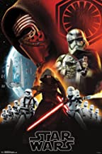 Movie POSTER Star Wars Ep 7 The Force Awakens Rey Finn Han Solo Chew 24x36