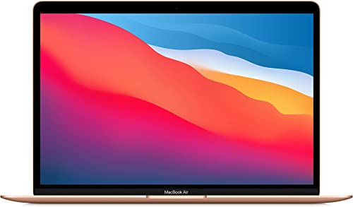"""2020 Apple MacBook Air Laptop: Apple M1 Chip 13"""" Retina Display 8GB RAM 256GB SSD Storage Backlit Keyboard FaceTime HD Camera Touch ID. Works with iPhone/iPad; Gold"""