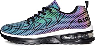 QAUPPE Mens Womens Reflective Air Cushion Running Shoes Gym Jogging Tennis Sports Walking Sneakers US5.5-11.5 B(M)