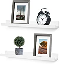 Greenco Wall Mounted Photo Ledge Floating Shelves White, 24