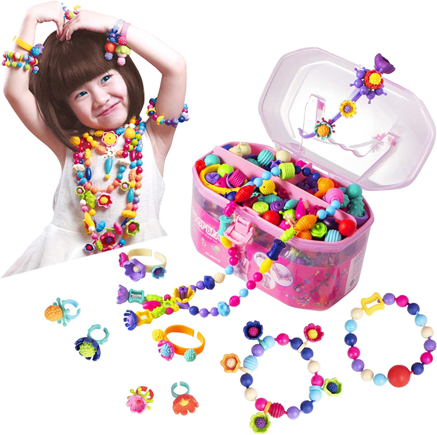 Pop Beads latest Jewelry Making Kit - Arts for Age 2021new shipping free 3 and Girls Crafts