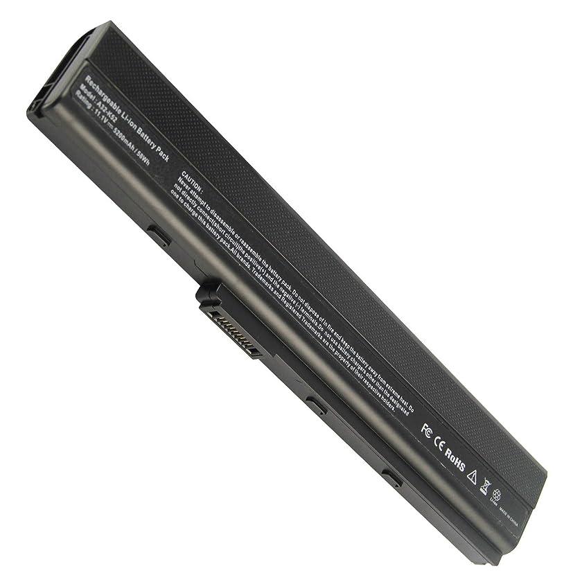 Laptop Battery for ASUS K52 K52 Series K52D K52DE K52DE-EX064V K52F-B1 K52F-BBR5 K52F-BBR9 K52f-c1 K52F-C2B K52FK52F-A1 K52f-SX051V K52N-EX035V K52Xi - 12 Months Warranty (6 cells 5200mAh)