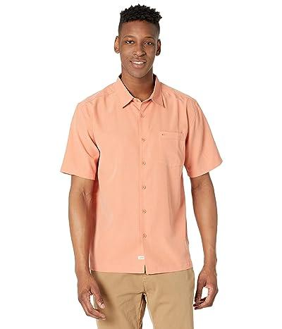 Quiksilver Waterman Centinela 4 Short Sleeve Shirt (Brandied Melon Centinella) Men