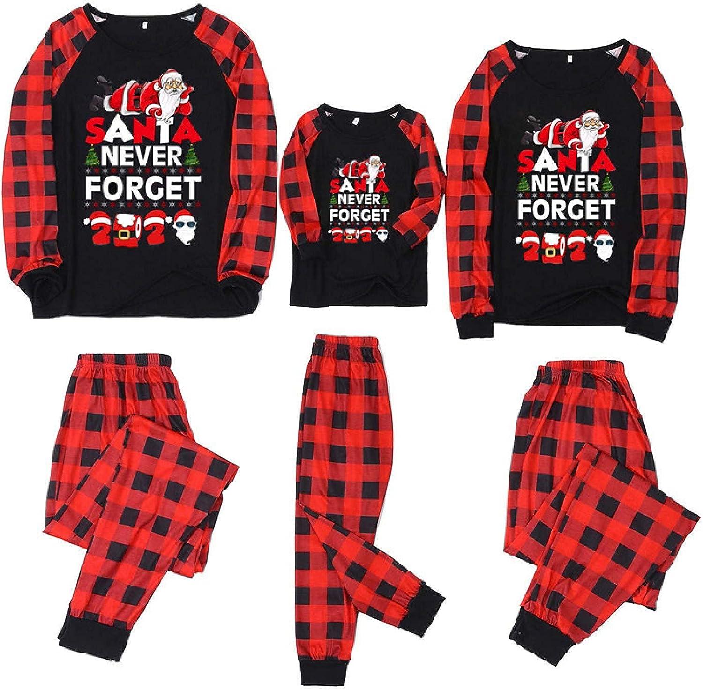 Matching Family Christmas Pajamas Set Christmas Pjs for family Set Red Plaid Top and Long Pants Sleepwear Sets