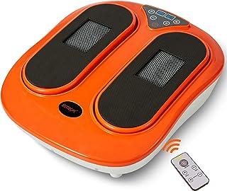 دستگاه ماساژور پا Emer با کنترل از راه دور ، ماساژور برقی قابل تنظیم با سرعت ارتعاش-خمیر ورزیدن عمیق شیاتسو ، افزایش گردش خون ماساژور پا و پا (نارنجی)