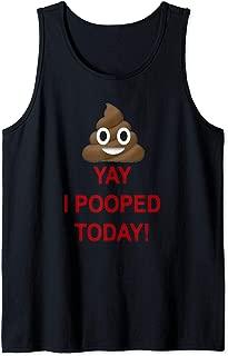 Yay I Pooped Today Emoji Poop Smiley Tank Top