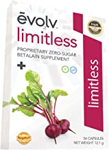 Evolv Health, Betalains Supplement from Pure Beet Root Extract, Energy & Joint Flexibility Support, Zero Sugar, Zero Calorie, 28 Servings, 56 Capsules