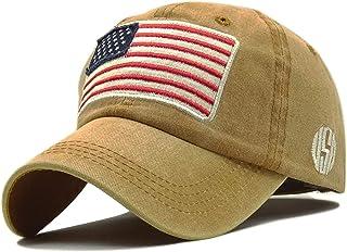 a138c36ce3a13 LOKIDVE USA American Flag Baseball Cap Embroidered Polo Style Military Army  Hat