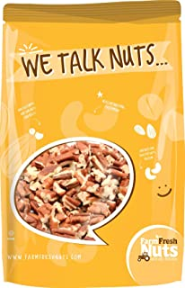 Natural, Shelled & Raw Georgia Chopped Pecans by Farm Fresh Nuts | 2 LB Bag of Southern Tastiness | Unsalted & Handpicked for Freshness | Perfect For Pecan Pie, Cookie, Praline, Butter Recipes & More