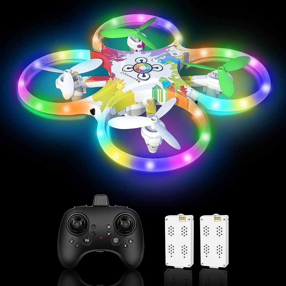 Tech rc,drone per bambini,led a colori con sensore a infrarossi TR014W