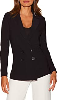 Women's Wrinkle-Resistant Solid Color Knit Double-Breasted Jacket