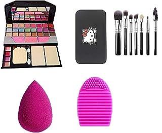 TYA 6155 Makeup kit + 1 Pcs Blender Puff + 1 Pcs Cleaner + Black Hello Kity Brush