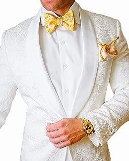 Jacquard Men Suits Blazer Jacket Men Shawl Lapel Wedding Tuxedos Suit Only One Coat