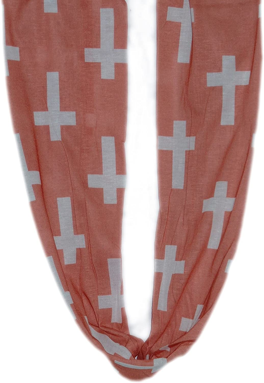 Designer Fashion Soft Shawl Infinity Scarf Women & Girls Peach Cross Wrap