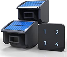 Solar Driveway Alarm System-1/4 Mile Long Transmission Range-Solar Powered No Need Replace Batteries-Outdoor Weatherproof ...