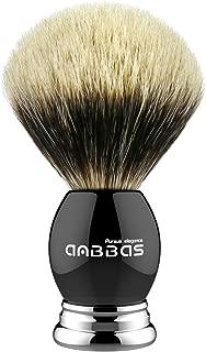 Anbbas Silvertip Badger Shaving Brush,Black Resin & Alloy Handle for Men Wet Shave,Pure Badger Hair,No Hair Shedding, No Terrible Smell