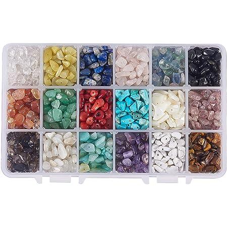 NBEADS 1 Caja de 18 Cuentas de Piedras Preciosas de 4-8 mm con Forma de Nugget Natural Irregular Sueltas con Piedra para Hacer joyería