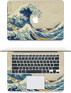 "Vinyl Decal Sticker Skin for Apple MacBook Pro Air Mac 13"" inch/Unibody 13 Inch Laptop (Japanese Wave)"