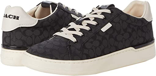 COACH Lowline Low Top Jacquard Sneaker,Black