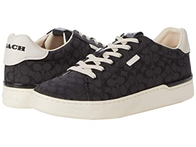 COACH Lowline Low Top Jacquard Sneaker (Black) Women