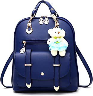 Backpack Purse for Women Large Capacity Leather Shoulder Bags Cute Mini Backpack for Girls,Royal blue