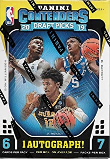2019 2020 Panini Contenders DRAFT PICKS Basketball Series Unopened Blaster Box of Packs with One Autograph Card and a chance for Zion Williamson