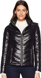 Women's Short Packable Down Jacket with Hood Zip Front
