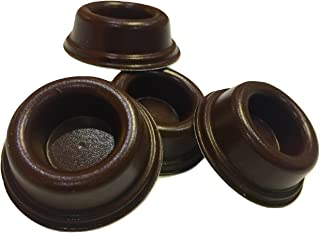 Rubber Door Stopper Bumpers (Pack of 4) Brown - Made in USA - Self-Adhesive Wall Protectors. Prevent Damage to Walls from Door Knobs Handles, Guard and Shield