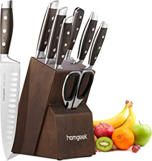homgeek Couteaux de Cuisine, 8 Pièces Set de Couteaux, Ensemble de Couteaux Professionnel Bloc de Couteaux en Fabriqué en ...