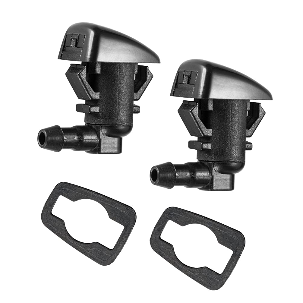 2 Front Windshield Washer Nozzle Kit fit for 2008-2011 Ford Focus, 2007-2011 Ford Edge, 2007-2010 Lincoln MKX Base Sport Premium Sport, Replacement for 8S4Z-17603-AA 7T4Z-17603-A