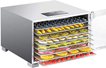 Biochef Kalahari Food Dehydrator - Premium All Stainless Dehydrator for Food - BPA Free, LED Display, 24hr Timer, Tempered...