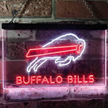 ZAKAKU Buffalo Bills Football Bar Two Color LED Neon Sign White and Red w16 x h12
