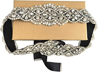 Handmade Rhinestone Bridal Belt Wedding Belts Sashes Crystal Beads Belt For Bridal Gowns