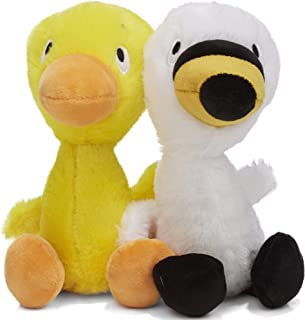 KIDS PREFERRED Duck and Goose Set Stuffed Animal Plush Toy , 7.5 Inches