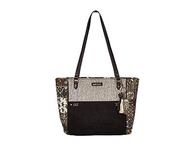 Sakroots Metro Satchel (Black Desert Patch) Satchel Handbags