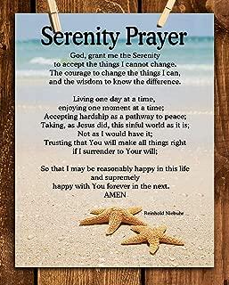 SERENITY PRAYER on Beach- 8 x 10