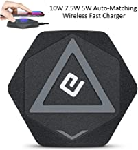 Compatible Samsung Galaxy S10+/10e/S9/Plus S8/+ Plus Note9/8 S7/ Edge Wireless Charger Pad 10W Qi-Certified iPhone X XS MAX XR 8 Plus Wireless Fast Charging Pad Charger 7.5W (No QC Adapter) CHARMINGEL