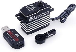 AGFRC 45KG IP67-Waterproof Steering-Servo High-Torque-Programmable - Full Metal Gear Digital Brushless Servo for 1/8 1/10 RC Models, 180 Degrees (A81BHMW&AGF-SPV2)