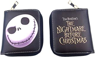CHITOP The Nightmare Before Christmas- PU Leather Wallet Dragon Ball Short Card Holder Purse Sailor Moon Money Bag for Gift (The Nightmare)