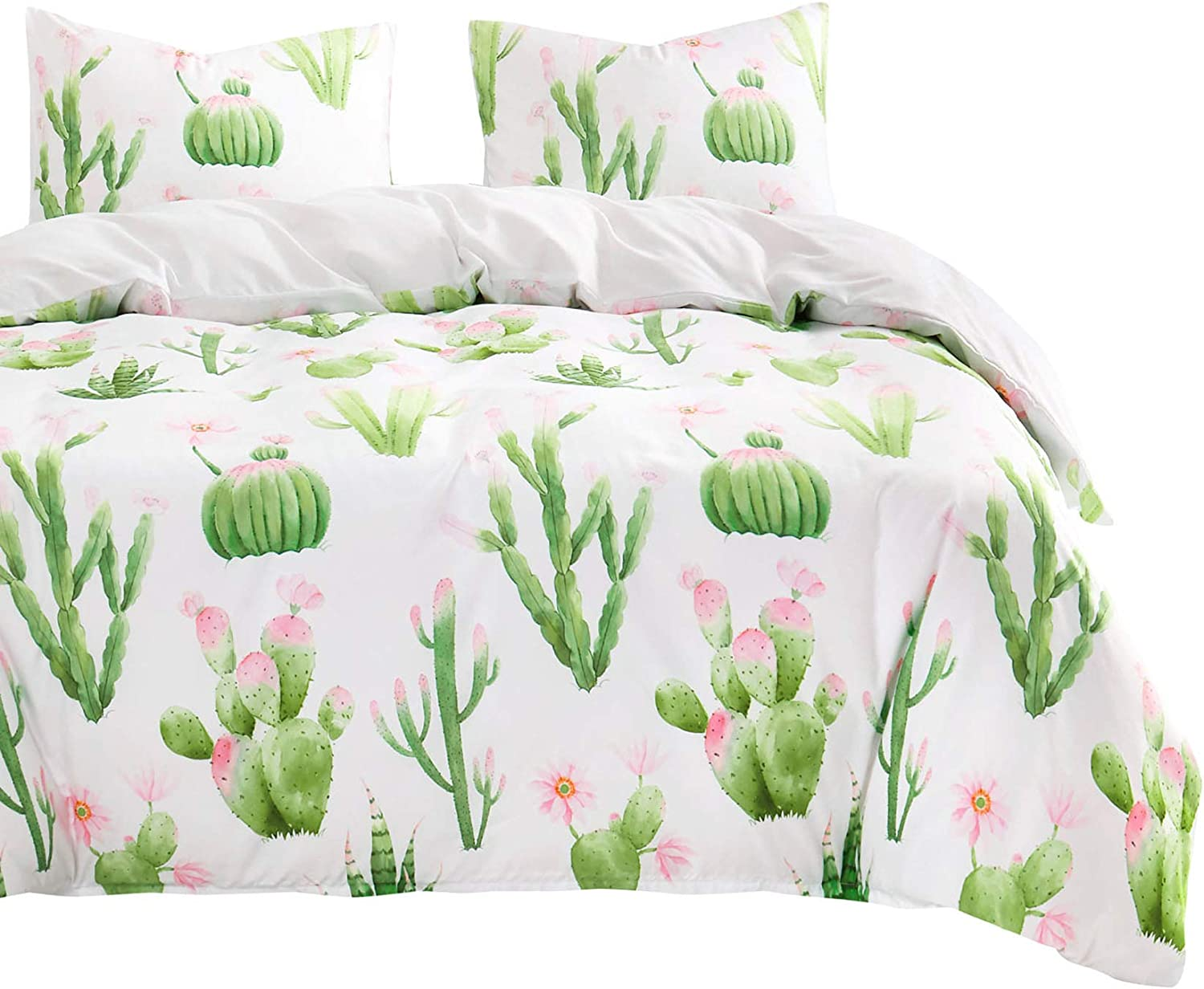 Wake In Cloud - Cactus Comforter Flo Green Pink Set New Free Outlet ☆ Free Shipping Shipping with