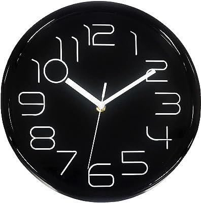 "Classic 10"" Wall Clock Home Decoration Vivid Design (Black)"
