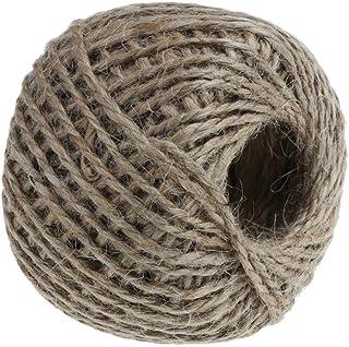 HOMYL Natural Brown Jute Cord Rope Twine String Cord Shank Craft String DIY Making