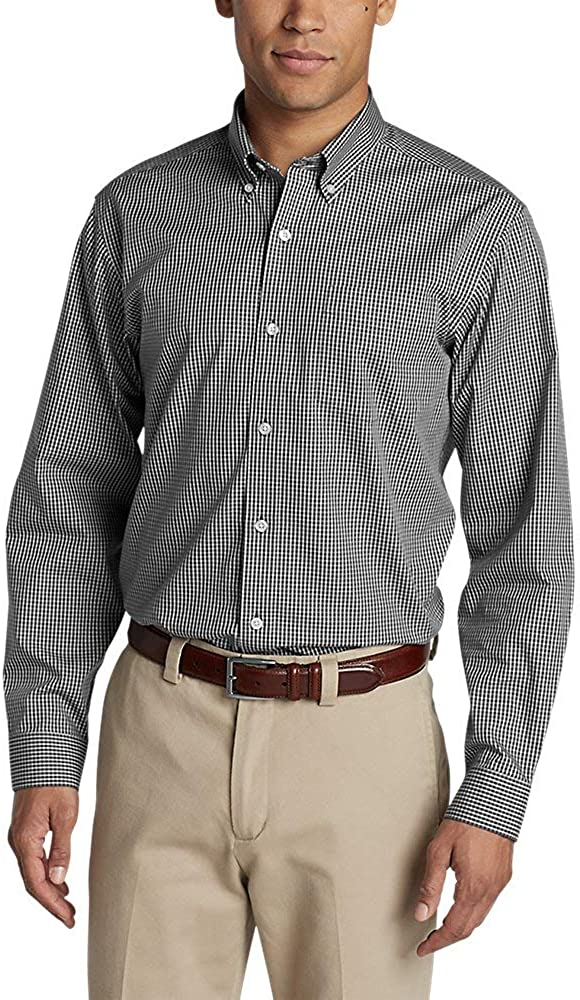 Eddie Bauer Men's Wrinkle-Free Pinpoint Oxford Relaxed Fit Long-Sleeve Shirt - Seasonal Pattern