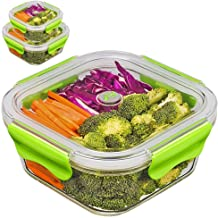 PREMIUM QUALITY(3PACK SET)Tritan Glass Lunch box/Food Storage Containers - Meal Prep Glass Containers set- Reusable Microw...