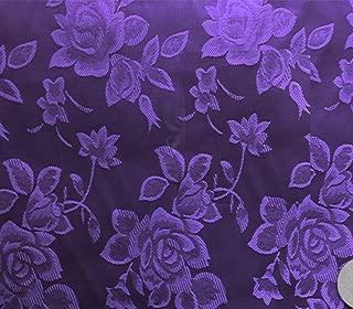 Satin Floral Jacquard Fabric 58