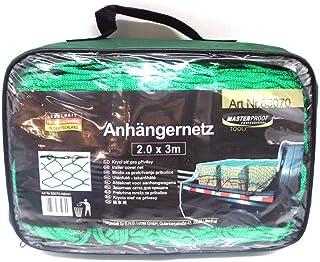 Anhängernetz 2,0 Meter x 3,0Meter Grün mit zusätzlicher Umrandung   Containernetz