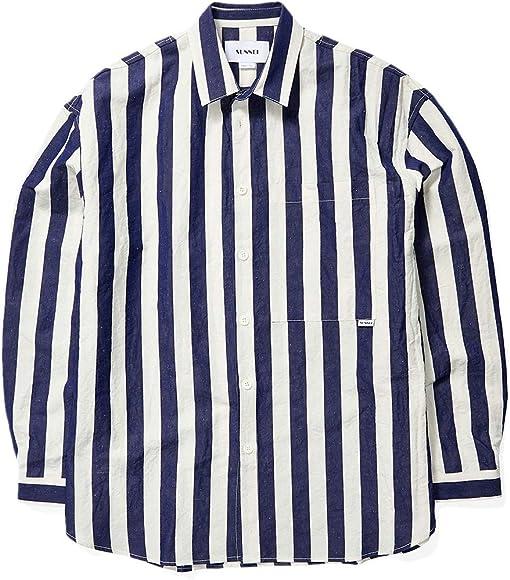 White/Blue Stripe