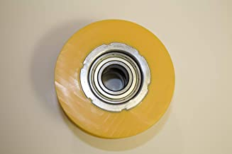 Lew All Fitness Replacement Yellow Slide Wheel - Part for Select Elliptical Trainers - Roller Wheel for Sole, Spirit, and Esprit Elliptical Machines - Check The Description to Find Model