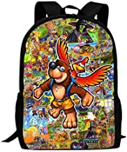 CICICCO Kid's Banjo-Kazooie Family Travel Outdoor Backpack Durable Multi-Function School Bag Purse Bookbag